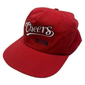 Vintage 90s Cheers Boston TV Show Red Snapback Hat